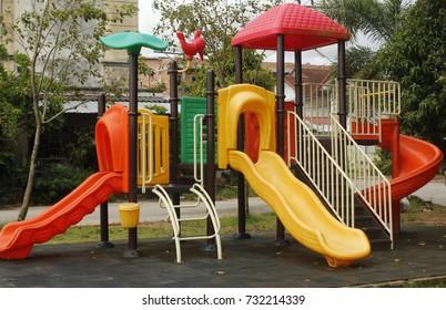 Playground In the community,children playground in the park.