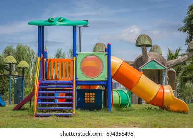 playground equipment for children in the park