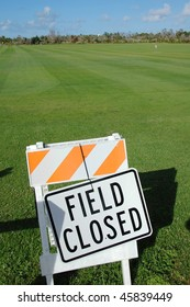 Playground Field Closed