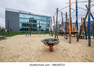 Playground in front of courthouse