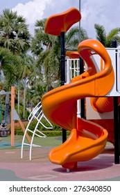 Playground in garden
