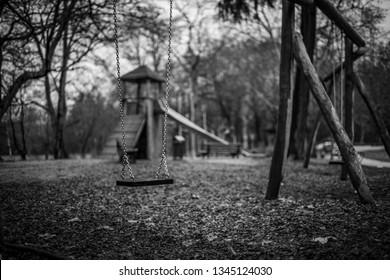 Playground in the Grueburgpark in Frankfurt