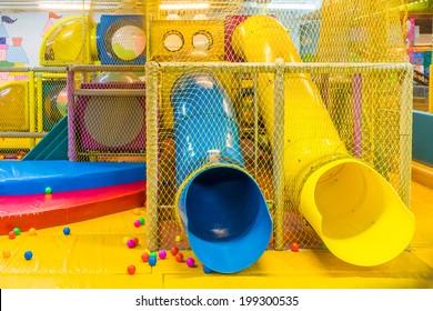 Playground in indoor amusement park for children