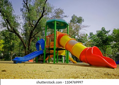 Playground in the park.