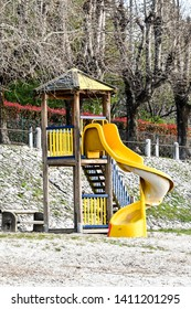 playground in the park, photo as a background