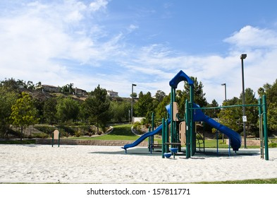 Playground in the park in sunny day