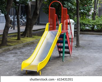 Playground slide in the park