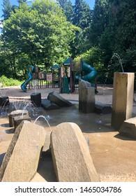 Playground with Water Splash Pad