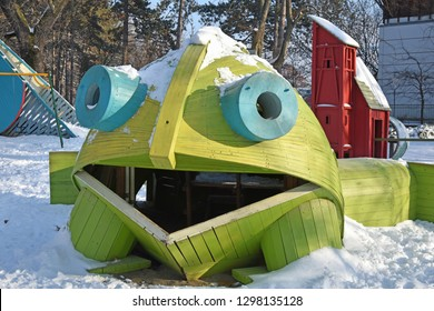 Playground in winter time