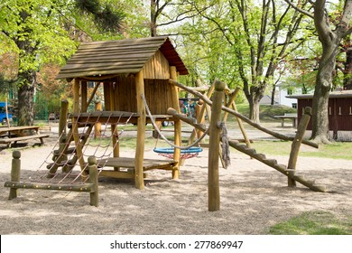Playground with wooden toys / Playground