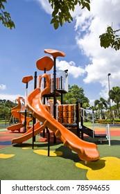 playgrounds and nice blue sky