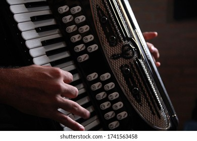 playing the accordion in a musical show
