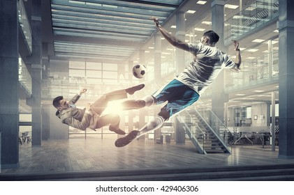 Playing ball in office