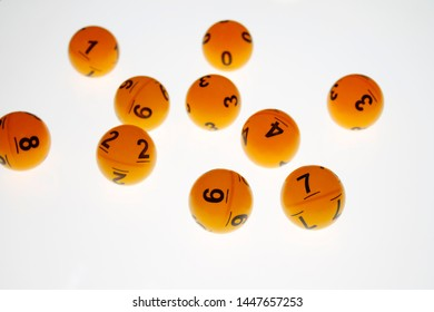 playing balls with bumber on white background for online casino concept