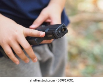 Playing BB Gun.