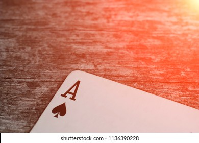 Playing card, game abstract: ace of spades