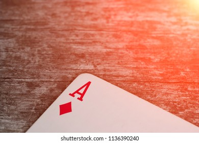 Playing card, game abstract: ace of clubs
