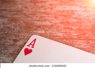 Playing card, game abstract: ace of hearts