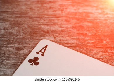 Playing card, game abstract: ace of crosses