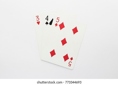Playing Card on White Background