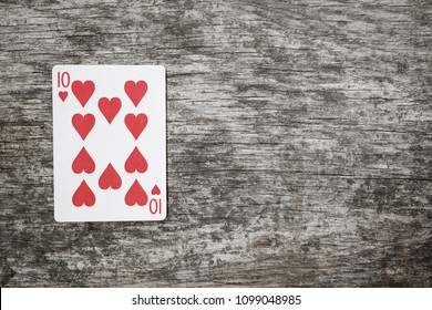 playing card ten of hearts
