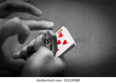 Playing cards/ black and white