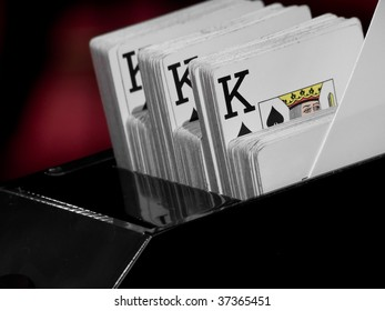playing cards in casino (casino series)