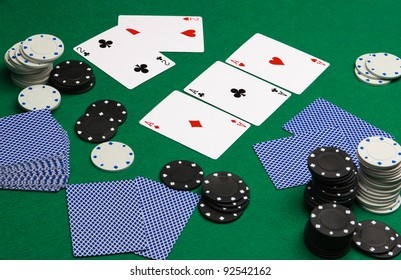 playing cards & chips