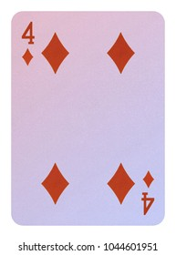 Playing cards, Four of diamonds