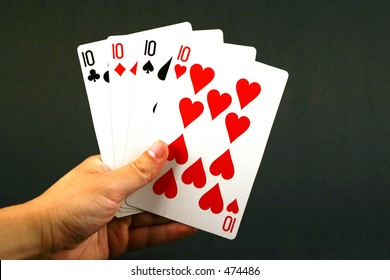 Playing cards - four ten