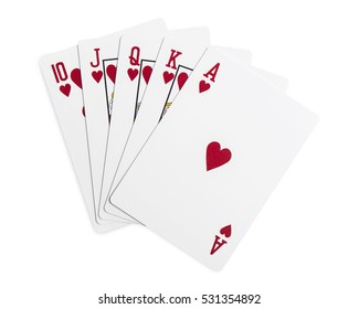 Playing cards - isolated on white background with clipping path