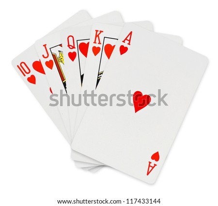 Playing cards isolated on