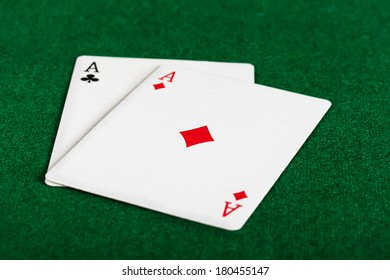 playing cards on table