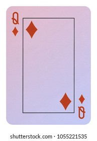 Playing cards, Queen of diamonds