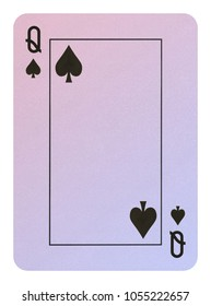 Playing cards, Queen of spades