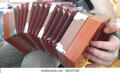 playing concertina