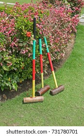 Playing croquet at the The English Tea House and Restaurant in Sandakan, Borneo, Malaysia