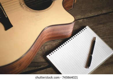 Playing guitar Composing ideas
