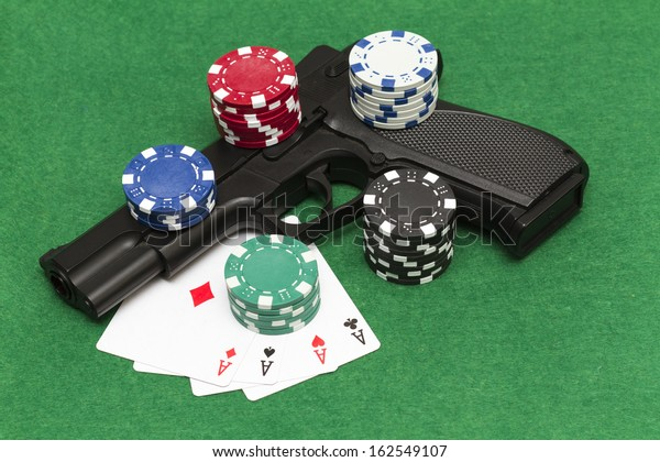 Playing Illegal Gambling Stock Photo Edit Now 162549107