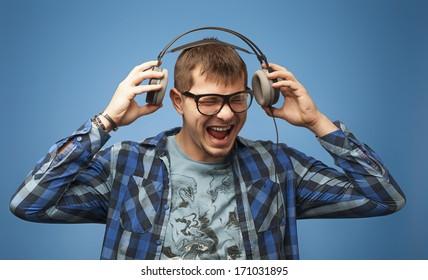Playing loud music