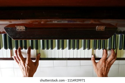 playing the piano  art, musical concept