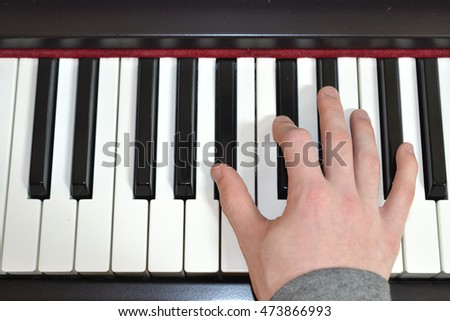 Playing Piano Keyboard Close Up Electronic Stock Photo Edit Now