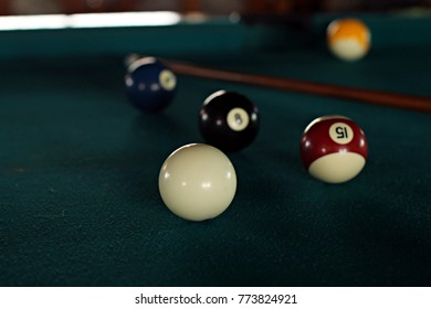playing pool at the hostel