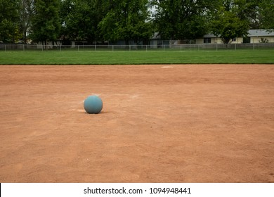 Playing some kickball at the park