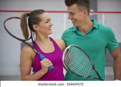Playing in squash make us happy