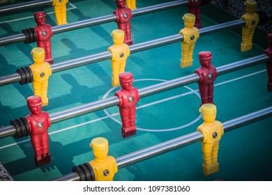 playing table football