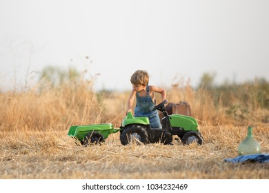 Playing in the wheat