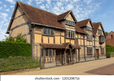 Playwright William Shakespeare's birthplace in Stratford-upon-Avon, Warwickshire, England.
