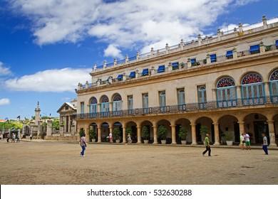plaza de armas, historic square in havana, cuba