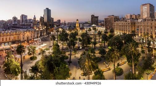 Plaza de Armas square in Santiago, Chile